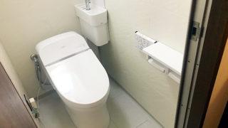 タンクレストイレに取り替え